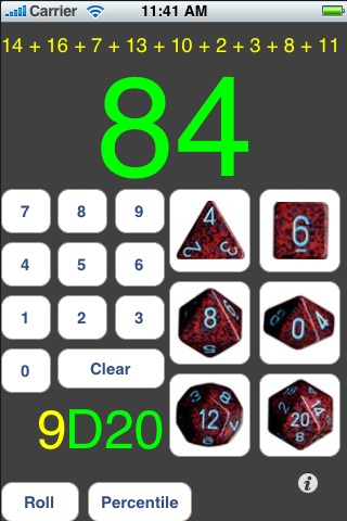 Screenshot D20 Gaming Dice Set